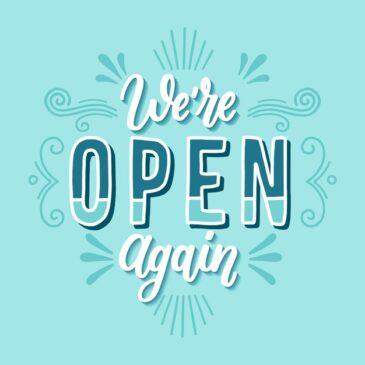 Di nuovo aperti!